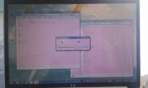 hp dv5 display strange