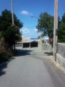 旅館前から祖納港方面