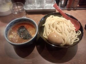 辛つけ麺 (中) + 半熟玉子