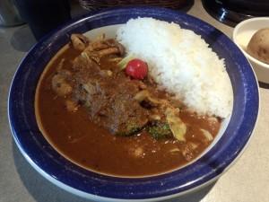 エビ + 野菜カレー (ルー大盛り, 辛さ 60 倍)