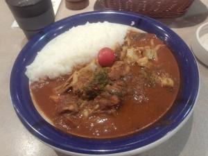 チキン + 野菜カレー (ルー大盛り, 辛さ 70 倍)