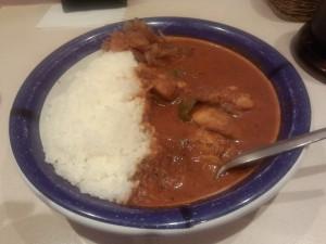チキンカレー (ルー大盛り, 辛さ 50 倍)