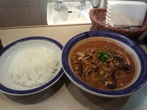 野菜豆カレー (ルー大盛り, 辛さ 50 倍)