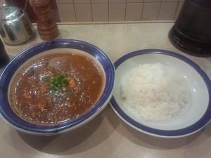 特製エビ豆カレー (ルー大盛り, 辛さ 50 倍)