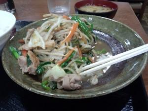 野菜炒め定食 (ライス 大)