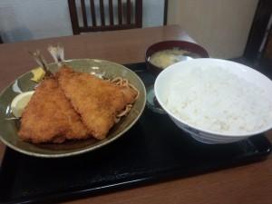 アジフライ定食 (ライス 大)