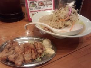 特製チャンポン 野菜増し + トンカラ (80g)