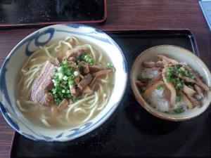 八重山そば (大) + 八重山飯