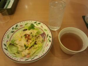 サラダ + スープ