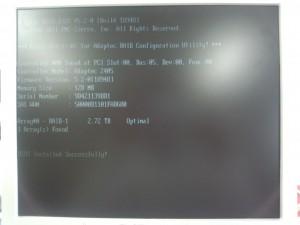 Adaptec RAID 2405 (3TB x 2, RAID1)
