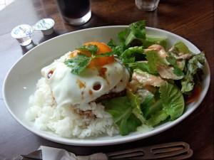 ロコモコ (テリヤキソース, 大盛り)