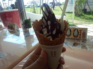 塩チョコソフトクリーム