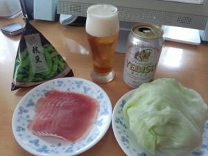 ヱビス 夏のコク + おつまみ