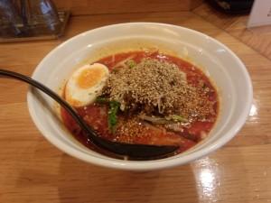 かつぎや担々麺 + 辛さ 4 (大辛)