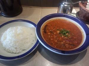 豆カレー (ルー大盛り, 辛さ 70 倍)