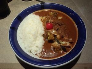 野菜カレー (ルー大盛り, 辛さ 70 倍)