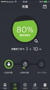 充電中 (80%)