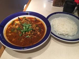 野菜豆カレー (ルー大盛り, 辛さ 70 倍)