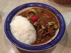 エビ + 野菜カレー (ルー大盛り, 辛さ 70 倍