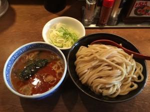 辛つけ麺 (中) + 薬味ねぎ