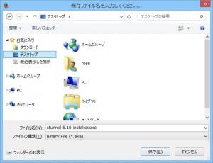 Windows 版 stunnel を保存 (例 : stunnel 5.10)