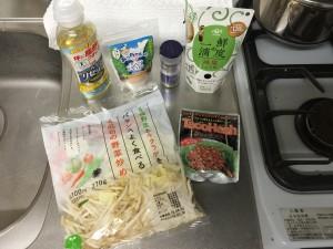 野菜炒め + タコハッシュ (1)