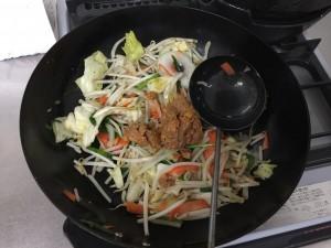 野菜炒め + タコハッシュ (3)