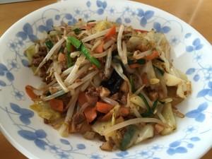 野菜炒め + タコハッシュ (4)