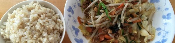 野菜炒め + タコハッシュ (5)