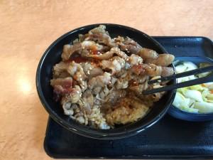 牛カルビ丼 大盛 (2)