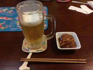 オリオンビール + お通し