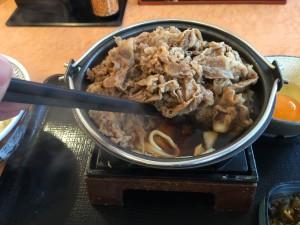 牛すき鍋膳 肉二倍盛 (3)