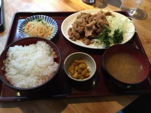 生姜焼き定食 (2015/01/06)