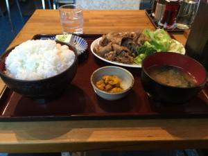 生姜焼き定食 (2015/01/09)