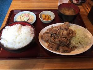 生姜焼き定食 (2015/04/22)