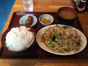 肉野菜炒め定食 (1)