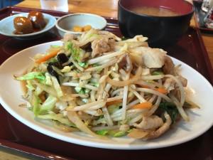 肉野菜炒め定食 (3)