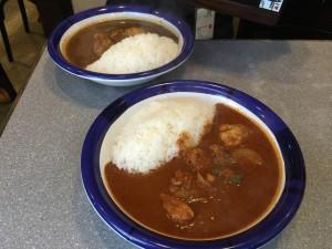 チキンカレー (ルー大盛り, 辛さ 5 倍 + 70 倍)